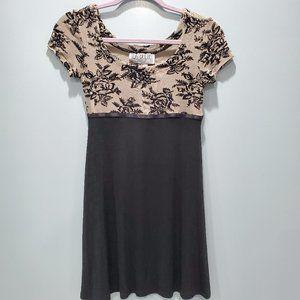 La Belle Fashions Black Mini Dress P114